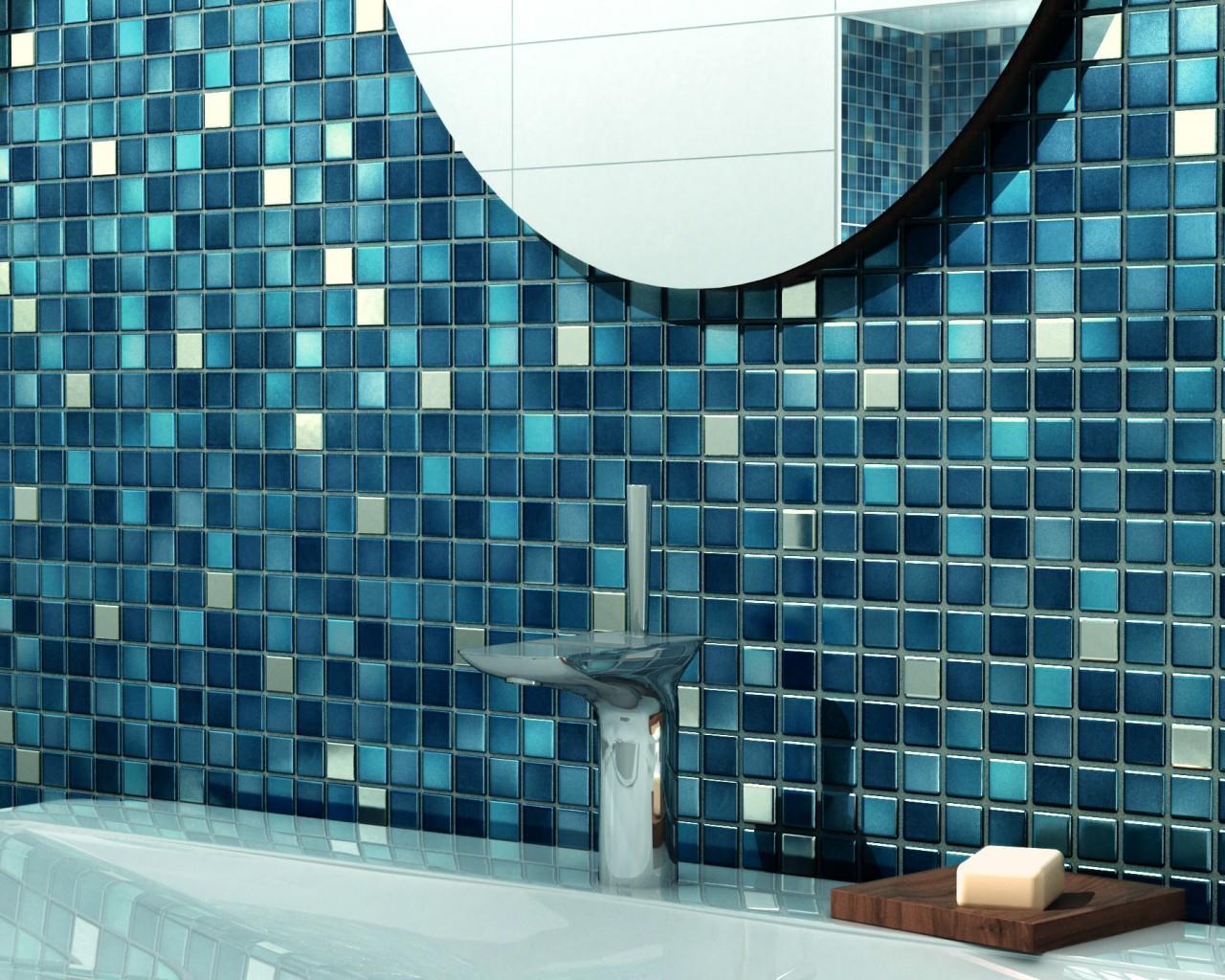 Schon Jasba Fresh Bad Mosaik Blau Metallic Detail ...